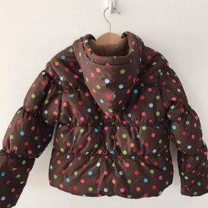 Gymboree Polka dot Puffer Jacket Girls 4T-5T